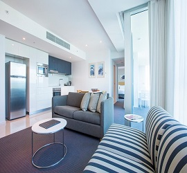 Gold Coast Private Apartments at H Residences building, One Bedroom Apartment Level 19